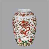 五彩云龙纹罐 -  - 古董珍玩夜场 - 2012春季文物艺术品拍卖会 -收藏网