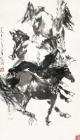 四骏图 轴 水墨纸本 - 刘勃舒 - 中国书画(二)艺海集萃 - 2012秋季艺术品拍卖会 -收藏网
