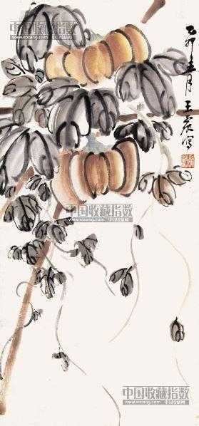 瓜果 立轴 纸本 - 4983 - 中国书画 - 2013年首届艺术品拍卖会 -收藏网