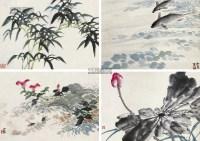 花鸟 (二件) 屏轴双挖 - 133859 - 艺术品 - 第45届艺术品拍卖交易会 -收藏网
