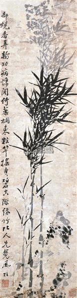 墨竹 立轴 水墨纸本 -  - 中国书画 - 2012夏季艺术品拍卖会 -收藏网