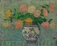 瓶菊 油彩 画布 - 153847 - 中国油画雕塑 - 2012年春季大型艺术品拍卖会 -收藏网