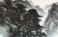 山水 镜片 设色纸本 - 4438 - 名家书画专场 - 2012年春季艺术品拍卖会 -收藏网