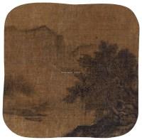 柳岸钓船 镜心 纸本 -  - 中国书画(五) - 嘉德四季第三十二期拍卖会 -收藏网