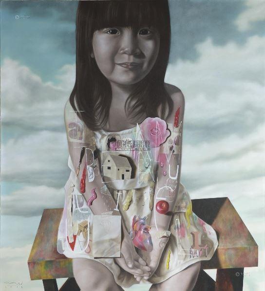 我很美丽 油画画布 -  - 现代及当代东南亚艺术 - 2013年春季拍卖会 -收藏网