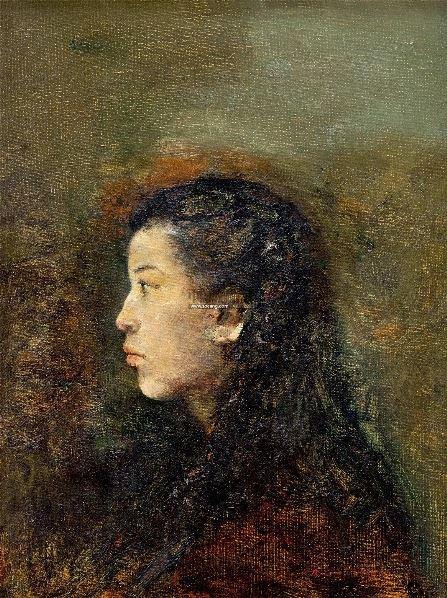 少女肖像 布面油画 - 140932 - 油画雕塑专场 - 2012年秋季艺术品拍卖