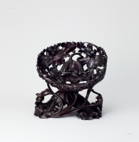 紫檀莲花座 -  - 中国古董珍玩 - 2013年春季拍卖会 -收藏网