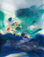 跃升的音符 油彩  画布 - 119074 - 中国油画雕塑 - 2012年春季大型艺术品拍卖会 -收藏网
