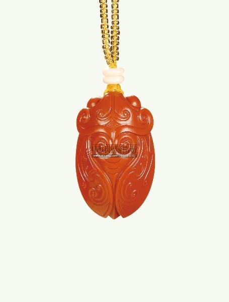 南红玛瑙蝉挂件 - - 王者归来— 当代南红玛瑙雕刻艺术精品专场