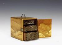 莳绘风景纹小盒(JAPAN) -  - 日本收藏家的中国古董珍藏 - 2013春季东京拍卖会 -中国收藏网