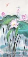荷风 立轴 设色纸本 -  - 中国书画 - 2012夏季艺术品拍卖会 -收藏网