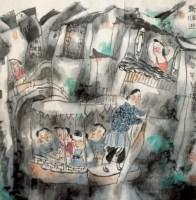秦淮游 镜心 纸本 - 龙瑞 - 中国书画 - 2012秋季艺术品拍卖会 -收藏网