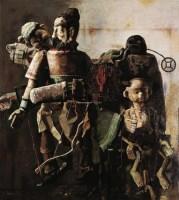 傀儡系列一 油彩 画布 - 140932 - 精品册 - 2012年春季大型艺术品拍卖会 -收藏网