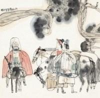 风尘三侠 立轴 设色纸本 - 131006 - 中国书画(二) - 2013年大众收藏拍卖会(第一期) -收藏网