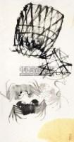 螃蟹 镜心 -  - 中国书画 - 2012首届保真书画拍卖会 -收藏网