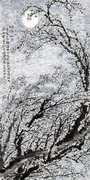神清和月 镜心 - 134633 - 当代书画保真返收购专场 - 2012年秋季当代书画保真返收购专场拍卖会 -收藏网