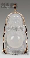 冰种翡翠弥勒镶金挂件 -  - 瓷玉珍玩 - 2013年首届艺术品拍卖会 -收藏网