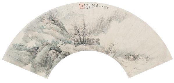 山水 扇面 设色纸本 -  - 中国名家书画 - 2012年秋季中国名家书画拍卖会 -收藏网
