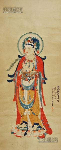 佛像 立轴 纸本 - 116070 - 中国书画 - 2013年首届艺术品拍卖会 -收藏网