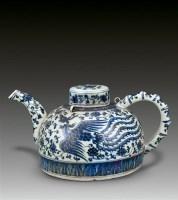 青花壶 -  - 瓷器专场 - 香港中联2012大型艺术品拍卖会 -收藏网
