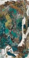 山水 立轴 设色纸本 - 6061 - 中国书画(三)—法院委托书画专场 - 2012年春季大型艺术品拍卖会 -收藏网