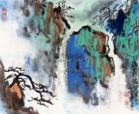 人字瀑布 立轴 纸本 - 116759 - 中国书画专场(二) - 2012年秋季书画艺术品拍卖会 -收藏网