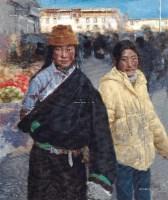 石渠女孩在拉萨 布面 油彩 - 于小冬 - 中国油画及雕塑 - 2013年春季拍卖会 -收藏网