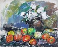 静物 布面油画 - 154481 - 华人西画 - 2012年秋季暨十周年庆大型艺术品拍卖会 -收藏网