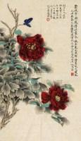 花卉 镜片 设色纸本 - 116800 - 中外书画精品 - 2012年《第一拍卖厅》冬季专场拍卖会 -收藏网