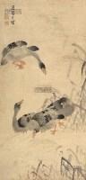 芦雁 立轴 纸本 - 116854 - 铁网珊瑚—中国古代书画专场 - 2013年春季艺术品拍卖会 -收藏网