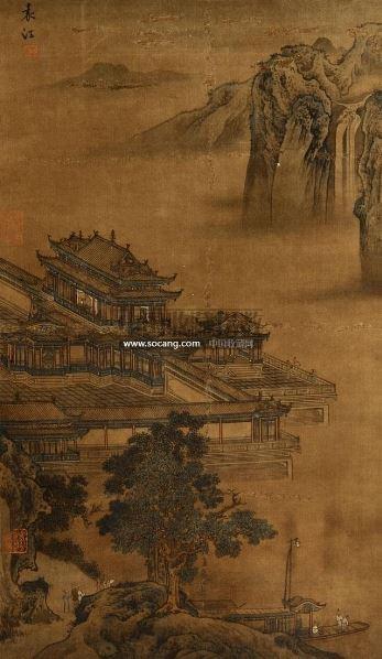 山水 立轴 设色绢本 - 116921 - 中国书画 - 第二期艺术品拍卖会 -收藏网