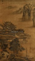 山水 立轴 设色绢本 - 袁江 - 中国书画 - 第二期艺术品拍卖会 -收藏网