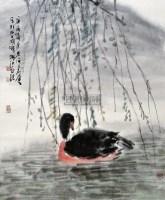 春江水暖 立轴 设色纸本 - 114993 - 中国名家书画 - 2012年首届中国名家书画拍卖会 -收藏网