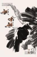 芭蕉小鸟图 立轴 纸本 - 1722 - 中国书画 - 2013年首届艺术品拍卖会 -收藏网