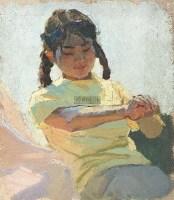 《夯歌》人物创作稿 布面 油彩 - 王文彬 - 中国油画及雕塑 - 2012年秋季拍卖会 -收藏网