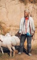 老农与羊 水彩 - 118051 - 华人西画 - 2012年秋季暨十周年庆大型艺术品拍卖会 -收藏网