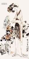仕女图 立轴 纸本 - 林墉 - 中国书画 - 2013年首届艺术品拍卖会 -收藏网