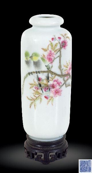徐仲南粉彩花鸟瓶 (一件) -  - 中国古董精品 - 2012年《第一拍卖厅》冬季专场拍卖会 -收藏网