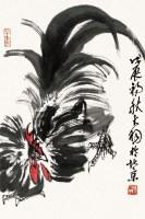 大吉图 镜片 设色纸本 - 116612 - 中国名家书画专场(二) - 2012年秋季艺术品拍卖会 -收藏网