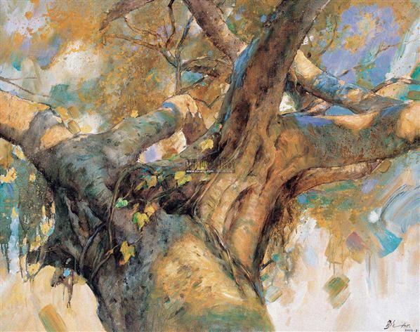 榕树 布面油画 - 140046 - 华人西画 - 2012年秋季暨十周年庆大型艺术品拍卖会 -中国收藏网