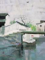 白墙民居 板上油画 - 115966 - 华人西画 - 2012年秋季暨十周年庆大型艺术品拍卖会 -收藏网