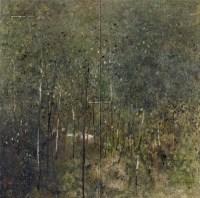 林间 布面 油彩 - 140932 - 中国油画及雕塑 - 2013年春季拍卖会 -收藏网