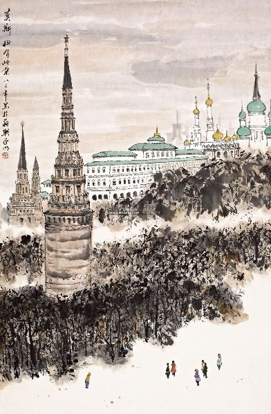 莫斯科风景 镜心 设色纸本 - 2538 - 中国书画(二) - 2012秋季艺术品