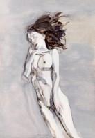 失忆的鱼 纸本 丙烯 - 刘虹 - 中国油画及雕塑 - 2012年秋季拍卖会 -收藏网