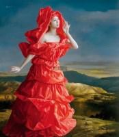 红纸新娘—在那遥远的地方 布面 油画 - 曾传兴 - 中国油画及雕塑 - 2013年春季拍卖会 -中国收藏网