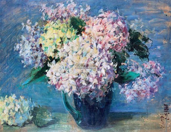 花卉 布面油画 - 158320 - 现当代油画雕塑 - 2012秋季艺术品拍卖会 -收藏网