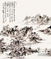 山水 立轴 纸本 - 116750 - 中国书画 - 2013年首届艺术品拍卖会 -收藏网