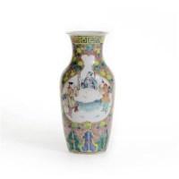 粉彩开光人物故事纹瓶 -  - 古董珍玩 - 2013 年迎春大型艺术品拍卖会 -收藏网