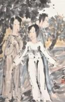 仕女图 镜片 设色纸本 - 117395 - 江苏当代书画 - 2012年春季艺术品拍卖会 -收藏网