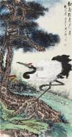 松龄鹤寿 镜心 设色纸本 - 117343 - 精品册 - 2012年春季大型艺术品拍卖会 -收藏网